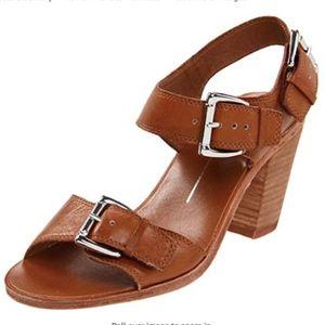 Dolce Vita Lana brown leather buckle sandal 10